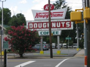 Krispy Kreme! But the sign is not lit. :(